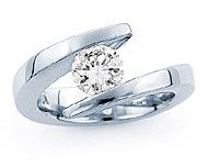 Tension ring - love the idea and the tapered ends. Worried it would come out if the ring stretched...?