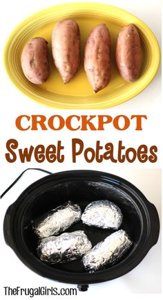 Crockpot Sweet Potatoes! ~ from TheFrugalGirls.com ~ they're such a cinch to make and SO delicious!!  #slowcooker #recipes