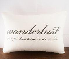 Wanderlust Pillow Cover