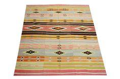 Oriental Turkish Kilim rug 84 x 59 Feet Ethnic by kilimwarehouse