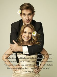 The cutest ever. Love Jim and Pam.