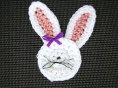 Bunny Head Appliqué - free crochet pattern