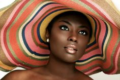Flawless beach hat, hats, beaches, natural makeup, peach, funky fashion, beauti, beauty, black