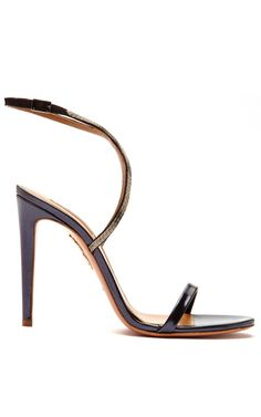 Aquazzura Cannes Metallic-Leather Strappy Sandals
