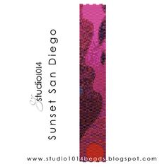 #peyote stitch beaded bracelet #pattern $6.99