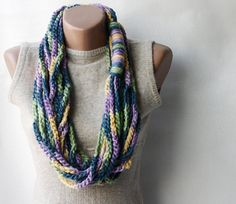 Chain infinity scarf, crochet just waiting for me to make!