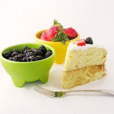 Tres Leches Layer Cake ~check out this moist sweet cake layered with caramel and fresh fruit at easybaked.net
