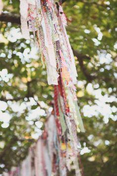colorful fabric strip garland