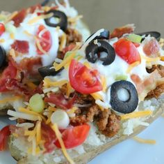 loaded baked potato tacos