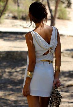 WHITE AND GOLD  , Sfera en Vestidos, Capriche en Otras joyas / Bisutería, Zara en Clutches, Lolita Blu en Tacones / Plataformas