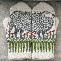 Sheep mittens pattern by Jorid Linvik