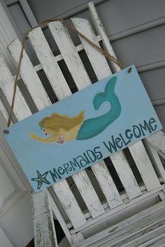 Mermaid Sign Wall Decor