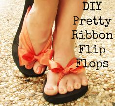 DIYpretty ribbon flip flops