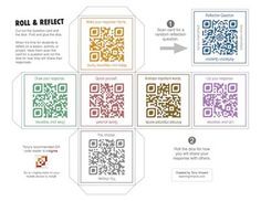 Roll and Reflect with QR Codes--free on TPT