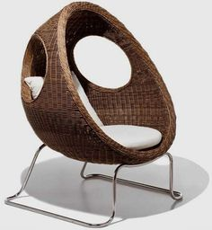 ladybug shaped chair modern furniture, outdoor furnitur, loung chair, outdoor chairs, lounge chairs, garden furniture, chair design, outdoor gardens, ladi bug
