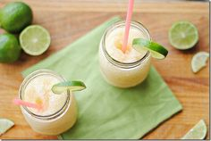 Skinny Beer-garitas - you can have 4 of these 6oz drinks for only 138 calories total! Yes, please.
