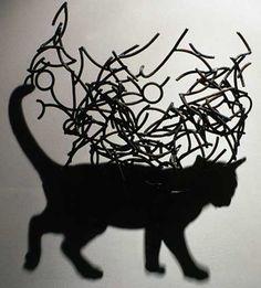 Cat Shadow Art