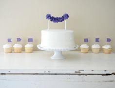 Cake Pom and Cupcake Flags