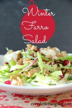 Winter Farro Salad | everylittlethingblog.com