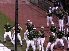 This is why baseball is so awesome!  USF vs Uconn baseball rain delay dance off.  I dont recommend watching this in the middle of a crowded coffee shop. They look at you funny when you laugh really loud.