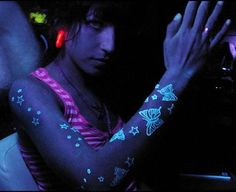 Black light tattoos!