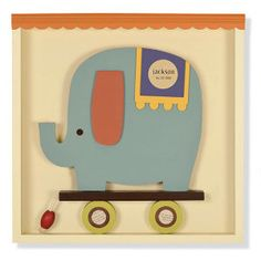 wall art, eleph wall, shadowbox wall, tree, blue, nurseri, babi room, kerri lee, pink elephants