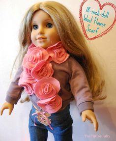 American Girl Flower Scarf Tutorial