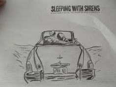 Random drawing of sleeping with sirens album cover i done in my spare