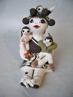 Acoma Pueblo Indian Pottery Storyteller Judy Lewis | eBay