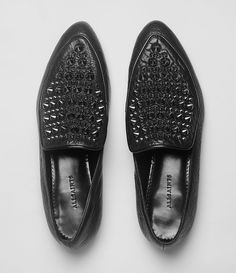AllSaints Keiko Stud Loafer | Womens Shoes