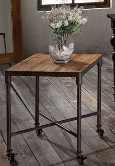 Add a chic, industrial accent to a sitting room or entryway.