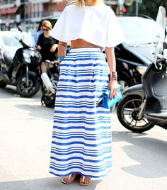full crop top + skirt