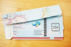 Zaproszenie urodzinowe - bilet lotniczy