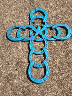 Cast Iron Western Horseshoe Brush Painted Cross, Religious Decor, Wall Decor, Country Western Home Decor via Etsy