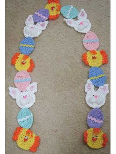 craft, crochet easter, garlands, scarves, easter crochet, scarf crochet, crochet patterns, easter scarf, crochet scarfs