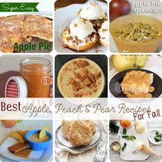 Best Apple Peach & Pear Recipes for Fall