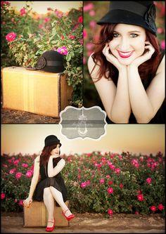senior pic ideas @Esveidi Montiel Salmeron I have an old suitcase like this!!