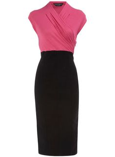 Black 2-in-1 Contrast Dress $44 woman fashion, fashion clothes, style, beauty, accessories, contrast dress, black, fashionable outfits, pink dress