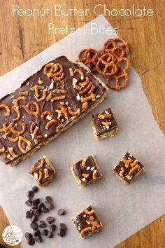 Peanut Butter Chocolate Pretzel Bites from @Jess Pearl Pearl Liu l A Kitchen Addiction