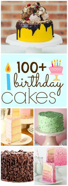 100+ Yummy Birthday Cake Ideas | www.somethingswanky.com