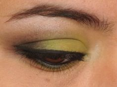 365 Days of Eyeshadow - Lime Green and Black