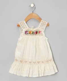 Boho Embroidered Baby/Toddler Dress