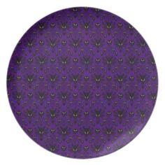 Haunted Mansion Wallpaper Plate