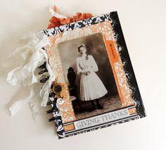Gratitude Journal, Tea Dyed Journal, Thanksgiving Journal, Gratitude Diary, Vintage Journal, Thanksgiving Journal