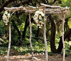 rustic alter wedding ideas   Very cute arch way for rustic diy wedding