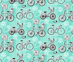bicycles fabric by carcamella on Spoonflower - custom fabric