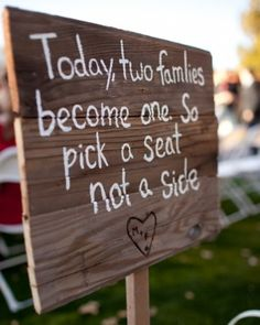 wedding signs... Doing this! What a great idea!