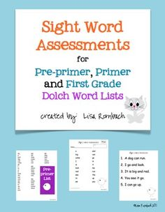 2nd grade sight words, sight word for first grade, dolch list, student, grade k1, assessment, dolch sight, assess form, word assess