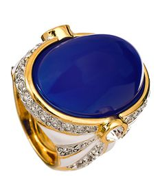 Kenneth Jay Lane Blue Stone Cocktail Ring
