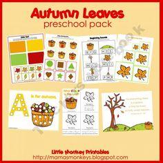 Autumn Leaves Preschool Pack 1.25